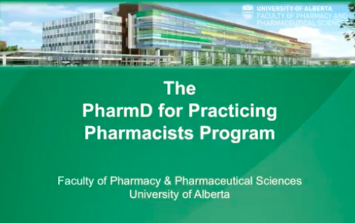 PharmD for Practicing Pharmacists Program – Admissions Information